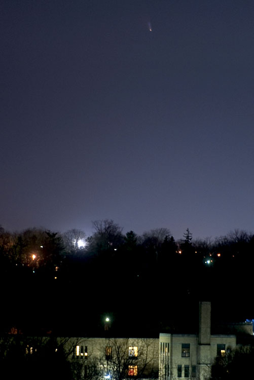 C/2011 L4 PANSTARRS over downtown Ann Arbor