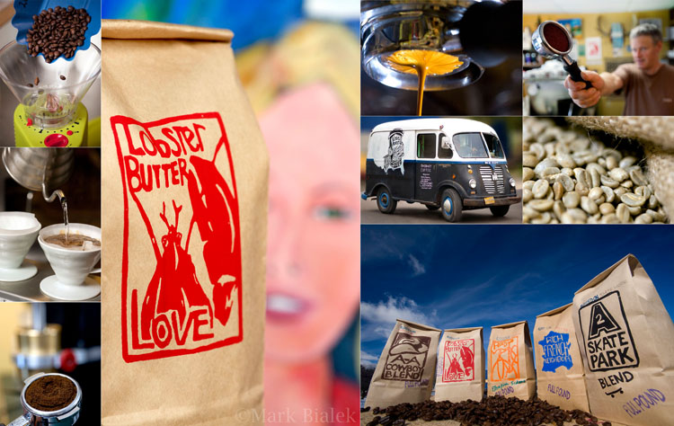 Roos Roast Coffee Photo Collage