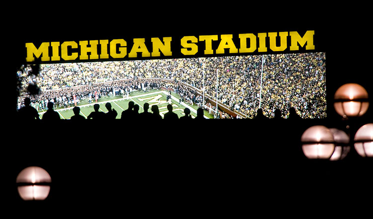 Michigan football night game