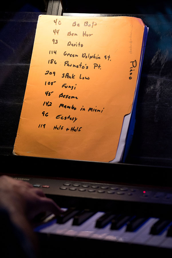 Set list for Las Gatos at Rush Street on Main Street in downtown Ann Arbor.