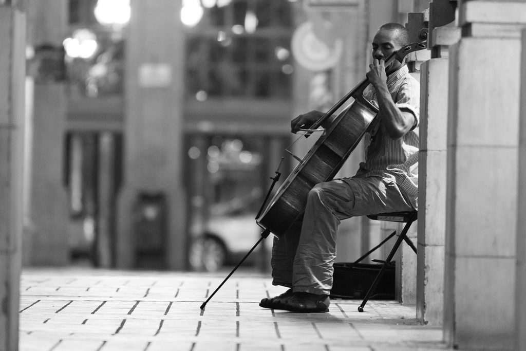 Nickels Arcade Cello Player