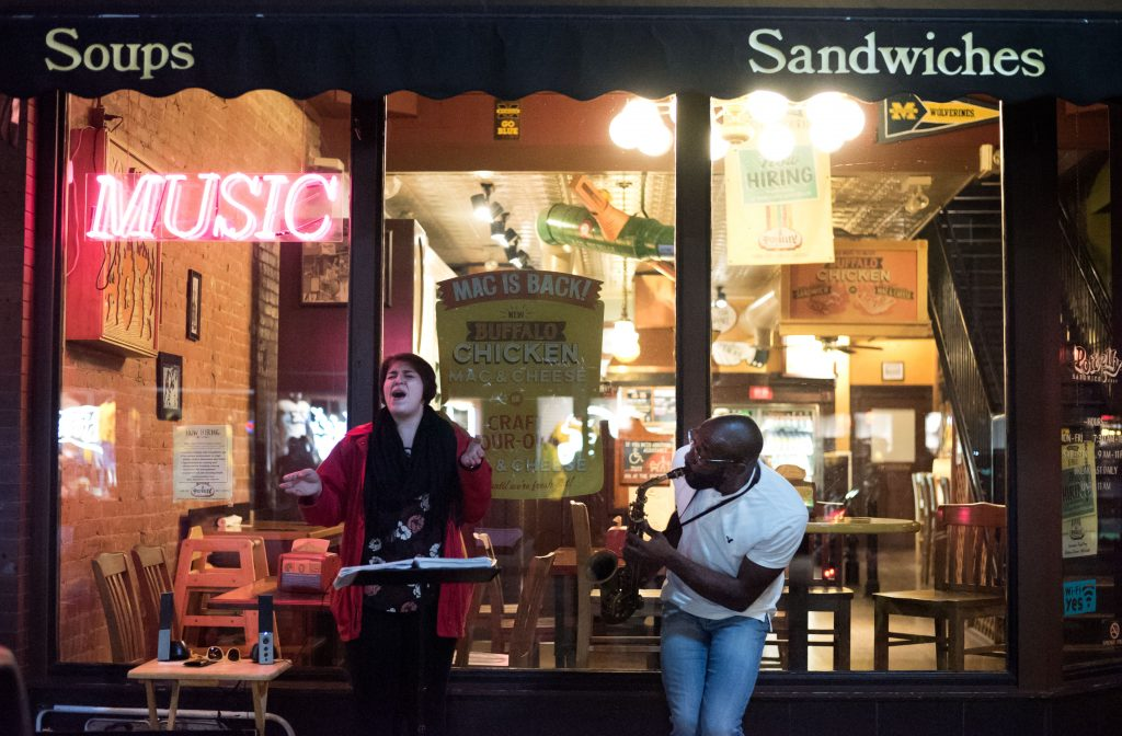 Ann Arbor Street jazz musician