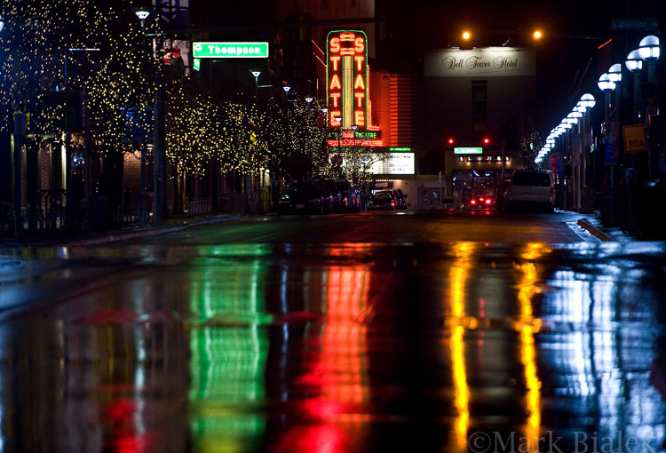 State Theater rain