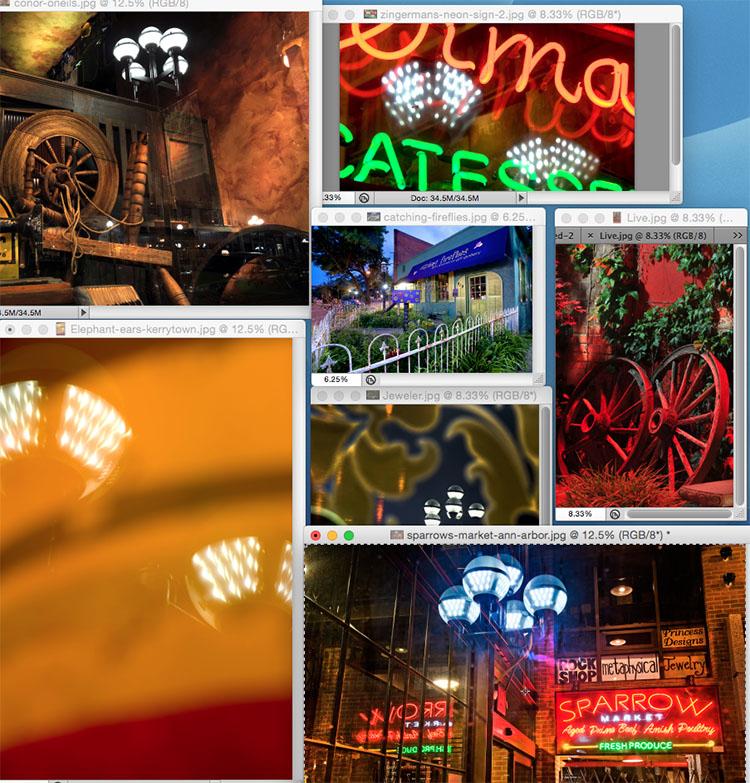 LED streetlight collage